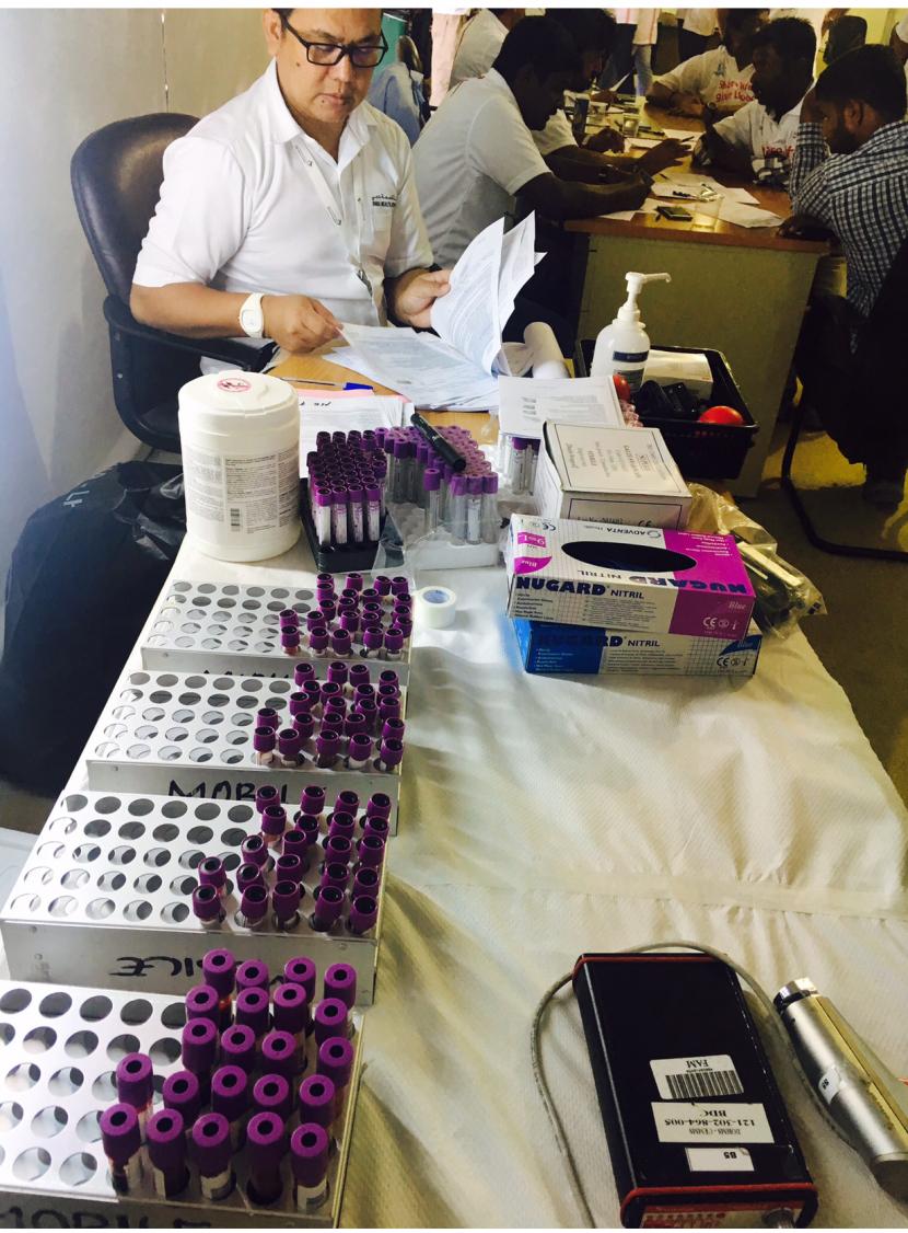 """تشارك AEC في """"حملة التبرع بالدم"""" - جزر ديرة"""